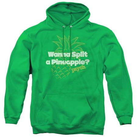 Psych - Pineapple Split - Pull-Over Hoodie - Large Split Cotton Sweatshirt