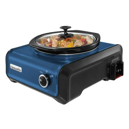 Crock Pot Hook Up 2 Quart Connectable Entertaining Slow Cooker System Blue