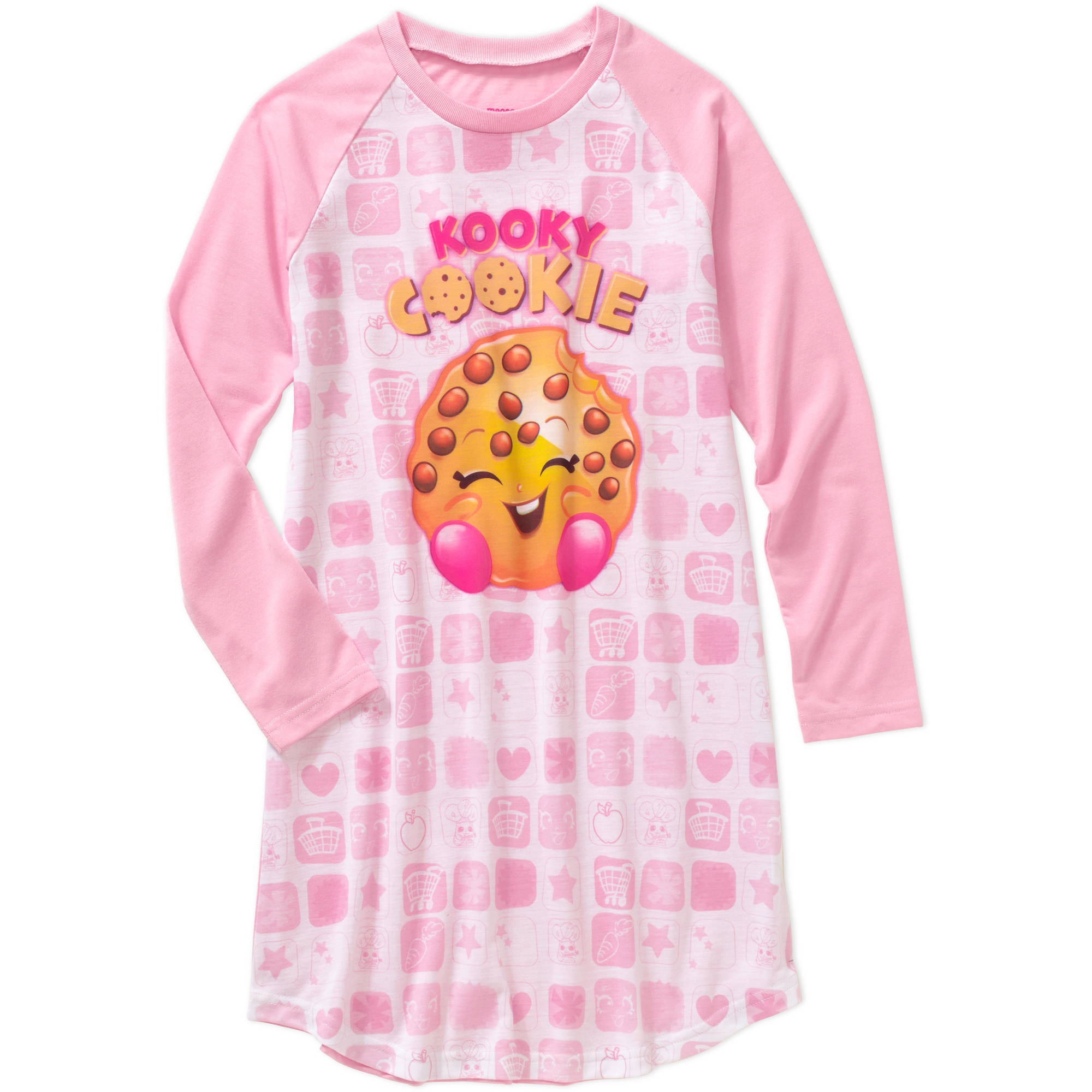 Shopkins Girls' Long Sleeve Kooky Cookie Nightgown