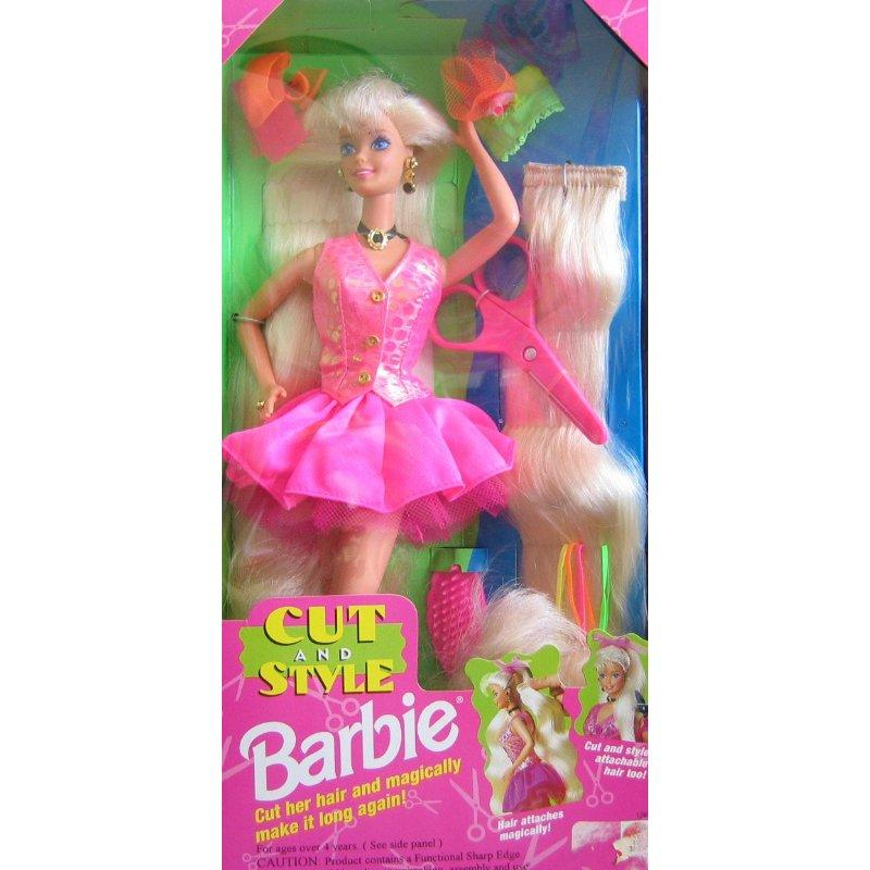 Cut and Style BARBIE Doll w Attachable Hair (1994)