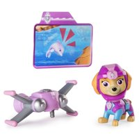 Paw Patrol Sea Patrol - Light Up Skye Figure with Pup Pack and Mission Card