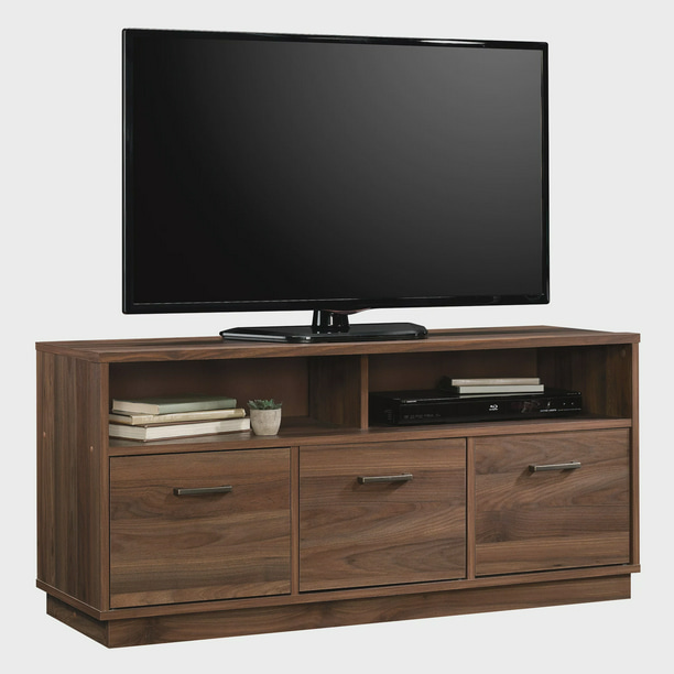 "Mainstays 3-Door TV Stand Console for TVs up to 50"", Canyon Walnut Finish"