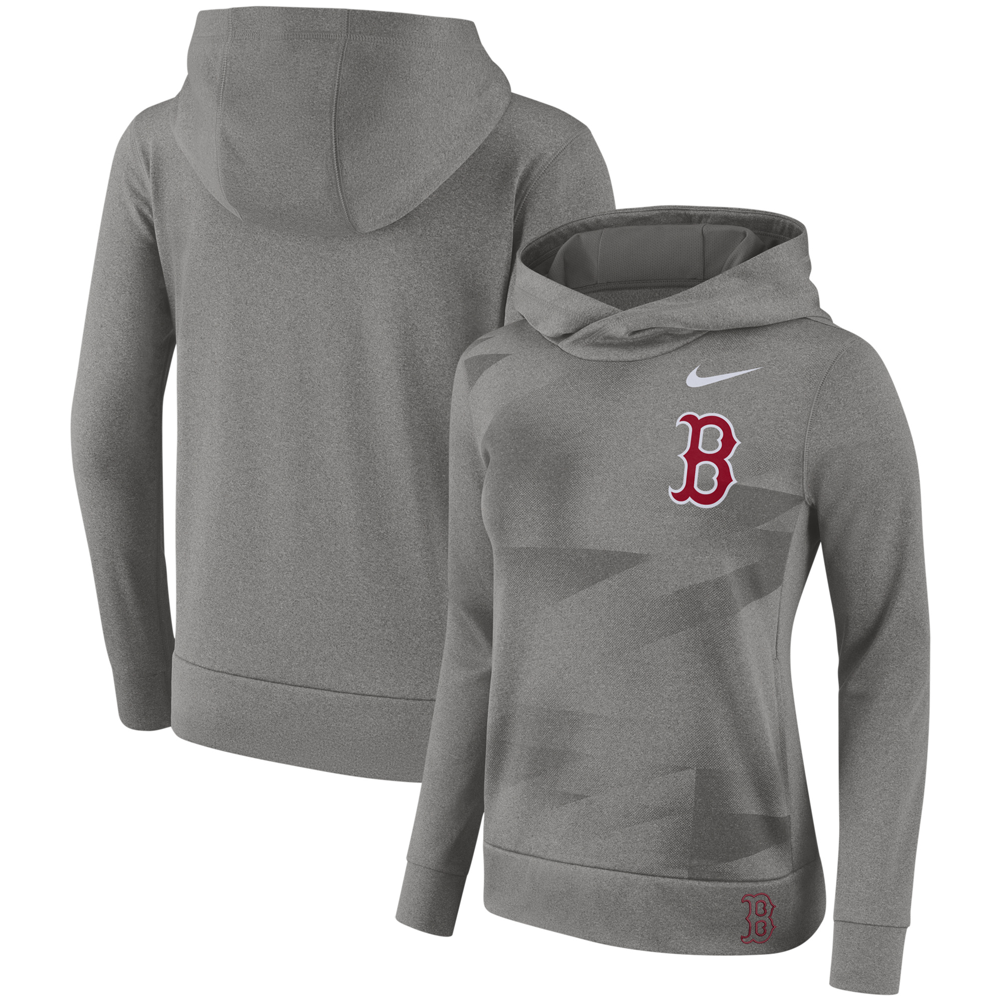Boston Red Sox Nike Women's Performance Pullover Hoodie - Gray