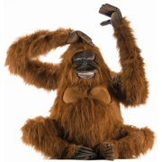 Life Size Sitting Orangutan Plush Stuffed Animal