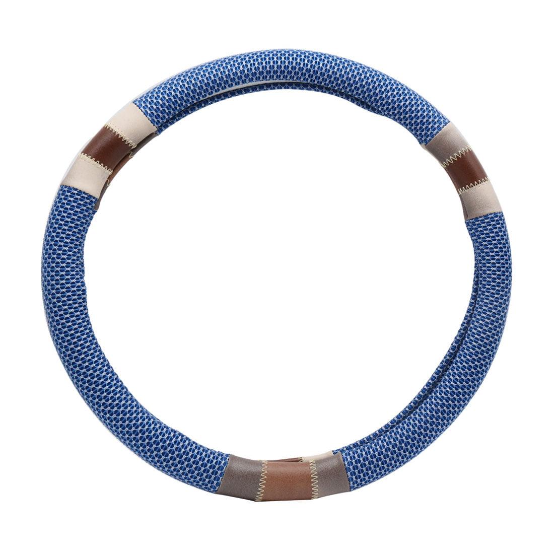 Blue Anti Slip Steering Wheel Cover Protector for Vehicle Car 37-38CM - image 2 de 2