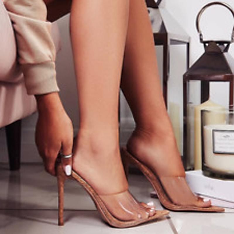 Mule Pointy Open Toe Stiletto Heel (6.5