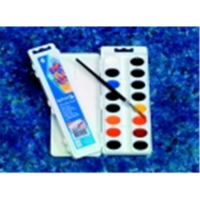 Reeves Non-Toxic Semi-Moist Watercolor Paint Set, Plastic Oval Pan, Set - 8