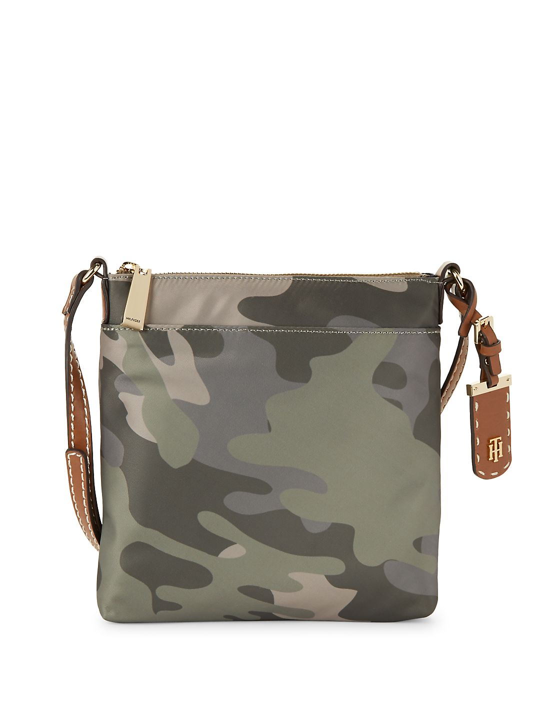 Julia Camo North South Crossbody Bag