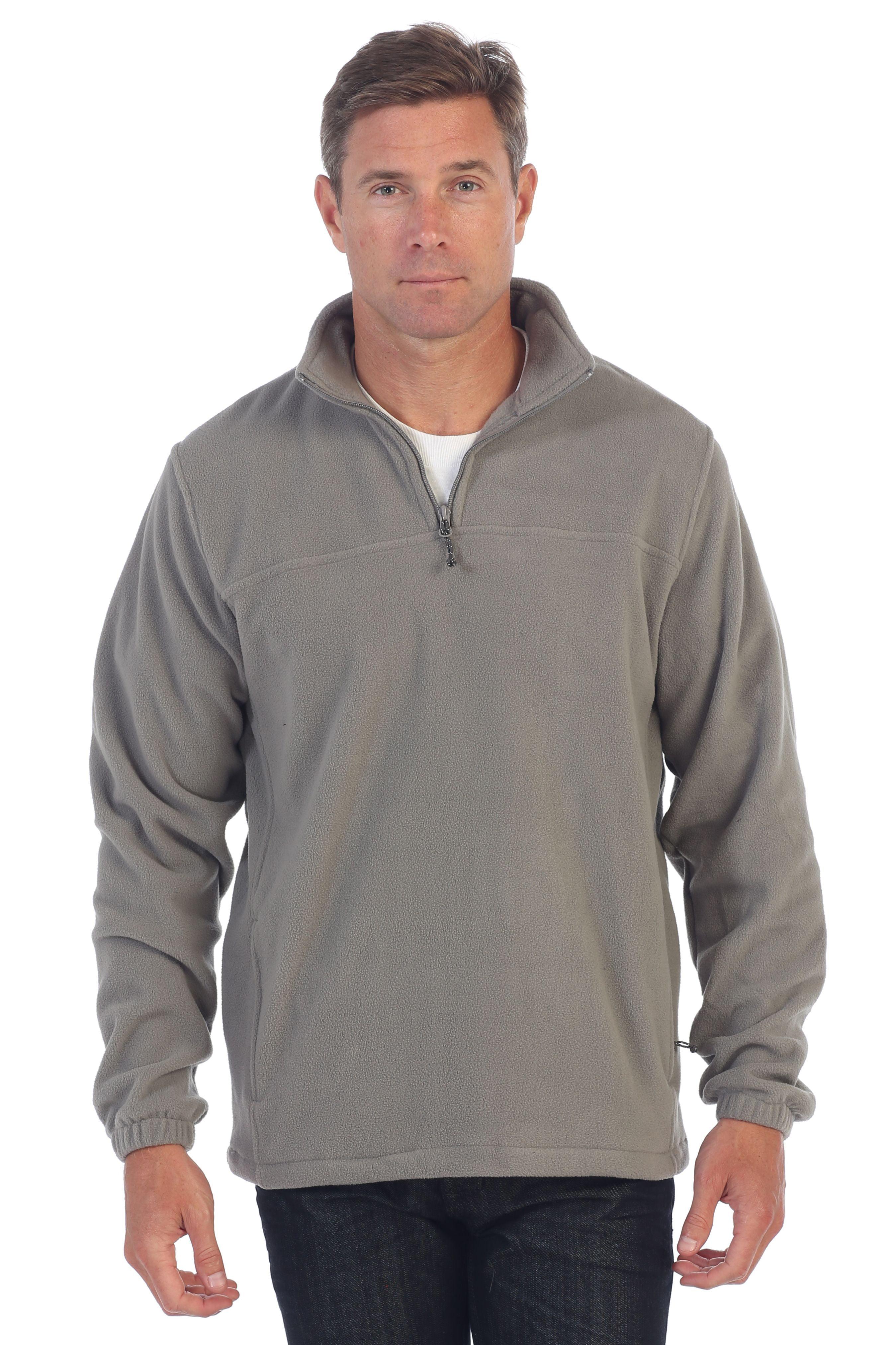 Gioberti Mens Half Zip Polar Fleece Jacket