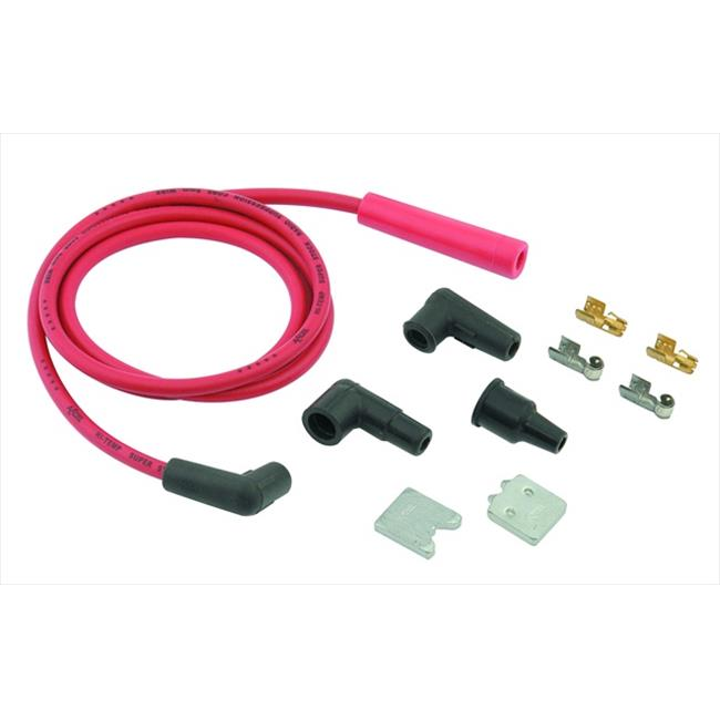 ACCEL 170500R Single Wire Replacement Kit, Staight And 90 Degree Spark Plug Boots - Universal, Red