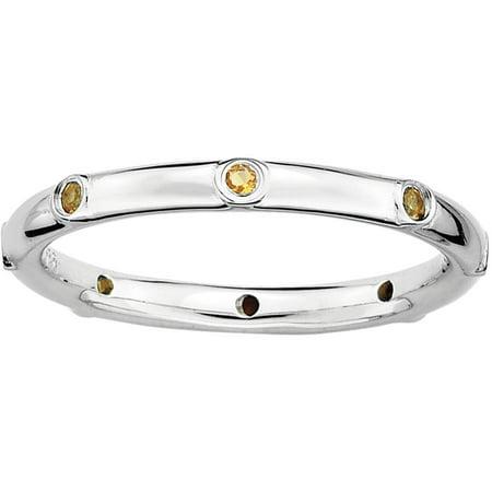 Citrine Sterling Silver Ring - Ring Eraser