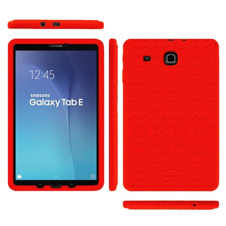 Fintie Case for Samsung Galaxy Tab E 9.6 / Samsung Tab E Nook 9.6 Silicone Lightweight Shockproof Cover,  Red - image 6 de 7