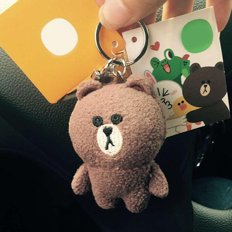 2PCS Lovely Cartoon Animal Cute Doll Key Chain Key Rings Pendant Decoration Gifts,Shape:Bear by YKS