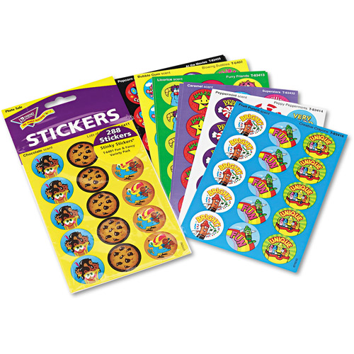 TREND Stinky Stickers Variety Pack, Colorful Favorites, 300pk