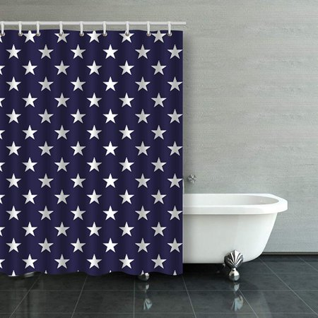 emvency shower curtain vintage star blue white desgin pattern polyester fabric 54 x 72 inches. Black Bedroom Furniture Sets. Home Design Ideas