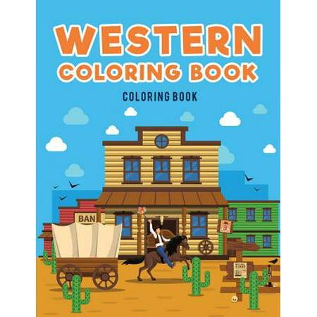 Western Coloring Book : : Cowboys