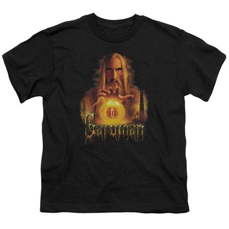 The Lord Of The Rings Movie Saruman Sauron Palantir Big Boys T Shirt Tee