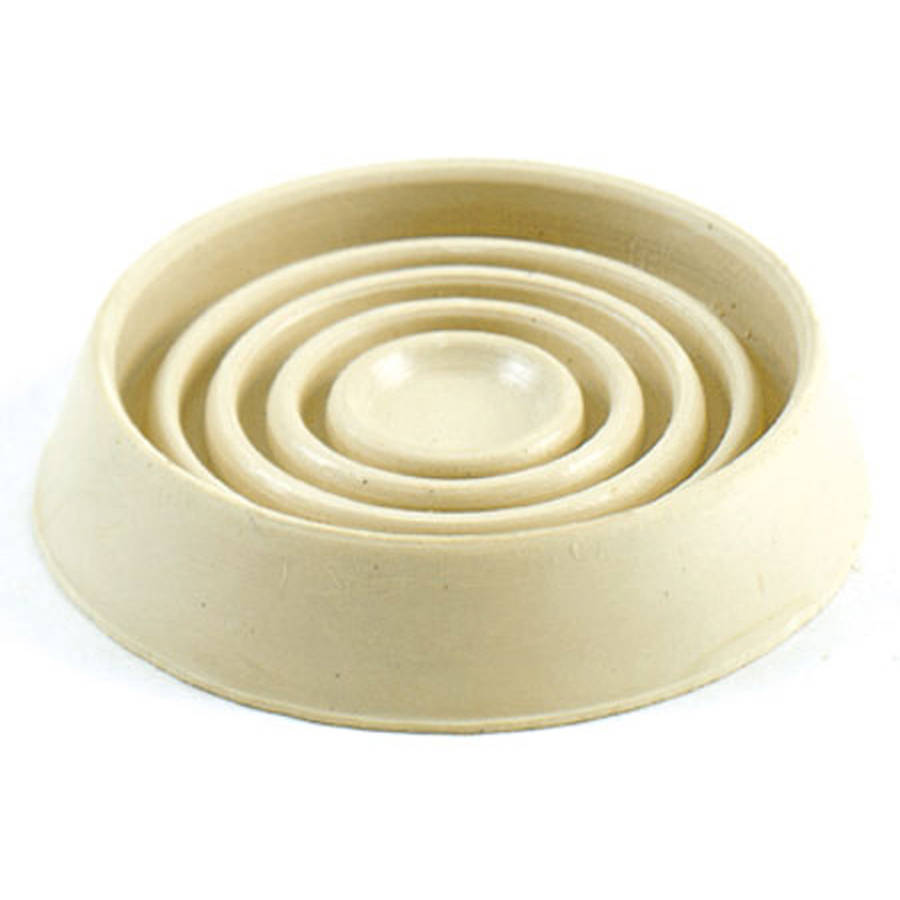 """Shepherd 9167 1-3/4"""" Off White Cushioned Rubber Round Caster Cups, 4 Count"""