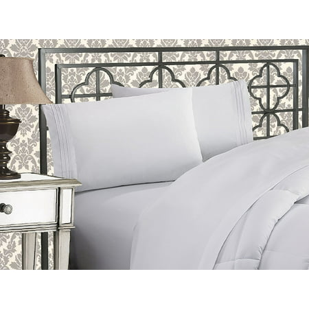 queen sheet sets clearance CLEARANCE Super Soft 1500 TC Sheet set , Queen White   Walmart.com queen sheet sets clearance