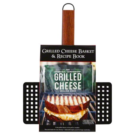 The Charcoal Companion Non-Stick Grilled Cheese Basket and Book Set, CC3137