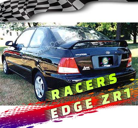 RacersEdgeZR1 2001-2002 Hyundai Accent 3dr Hatch Custom Style ABS Spoilers RE26L-8