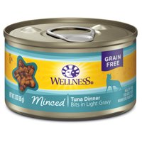 (24 Pack) Wellness Complete Health Natural Grain Free Minced Wet Canned Cat Food, 3 oz. Cans