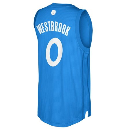 Russell Westbrook Oklahoma City Thunder Nba Adidas Blue 2016 Christmas Day Climacool Swingman Jersey For Men