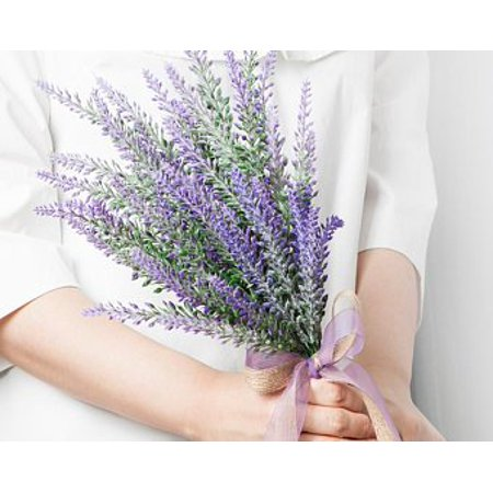 - Artificial Lavender Bouquet Fake Lavender Bunch Purple Lavender Flowers Artificial Plant for Wedding, Home Decor, Office, Garden, Patio Decoration,60 pieces