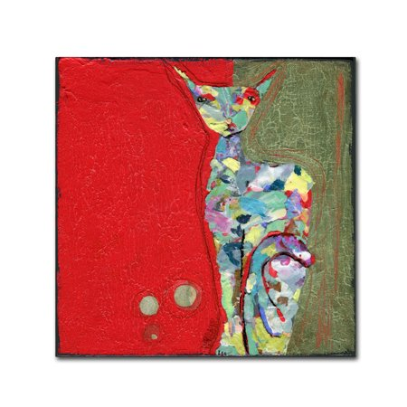 Trademark Fine Art 'Three Cent Attitude' Canvas Art by Wyanne