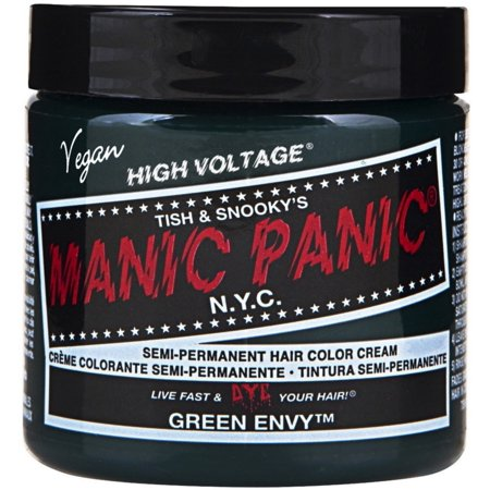 Manic Panic Semi-Permanent Hair Color Cream, Green Envy 4