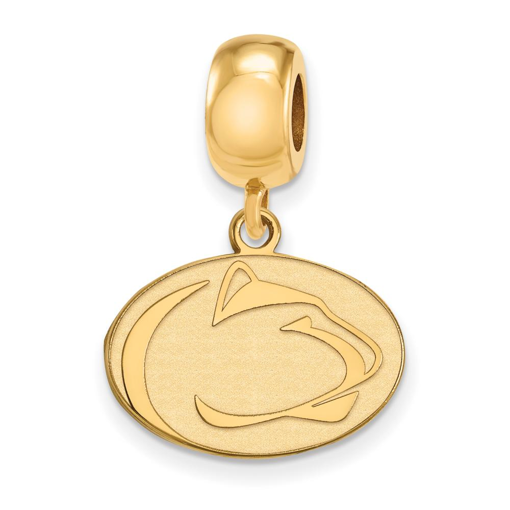 Penn State Bead Charm Small (1/2 Inch) Dangle (Gold Plated)