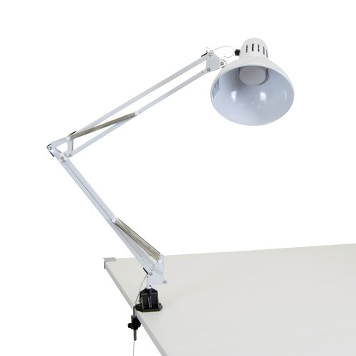 LED Swing Arm Lamp, White by Studio Designs Inc