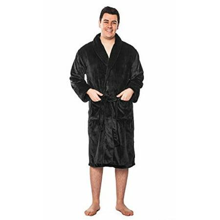 c0df46fa92 Turquaz Linen - Men and Women (Unisex) Super Soft Tahoe Microfleece Shawl  Collar Bathrobe   Spa Robe - Walmart.com