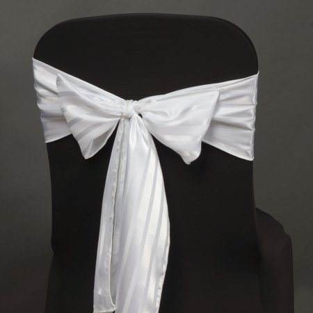BalsaCircle 5 Satin Stripes Chair Sashes Bows Ties - Wedding Party Ceremony Reception Event Decorations Unique - Wedding Ceremonies