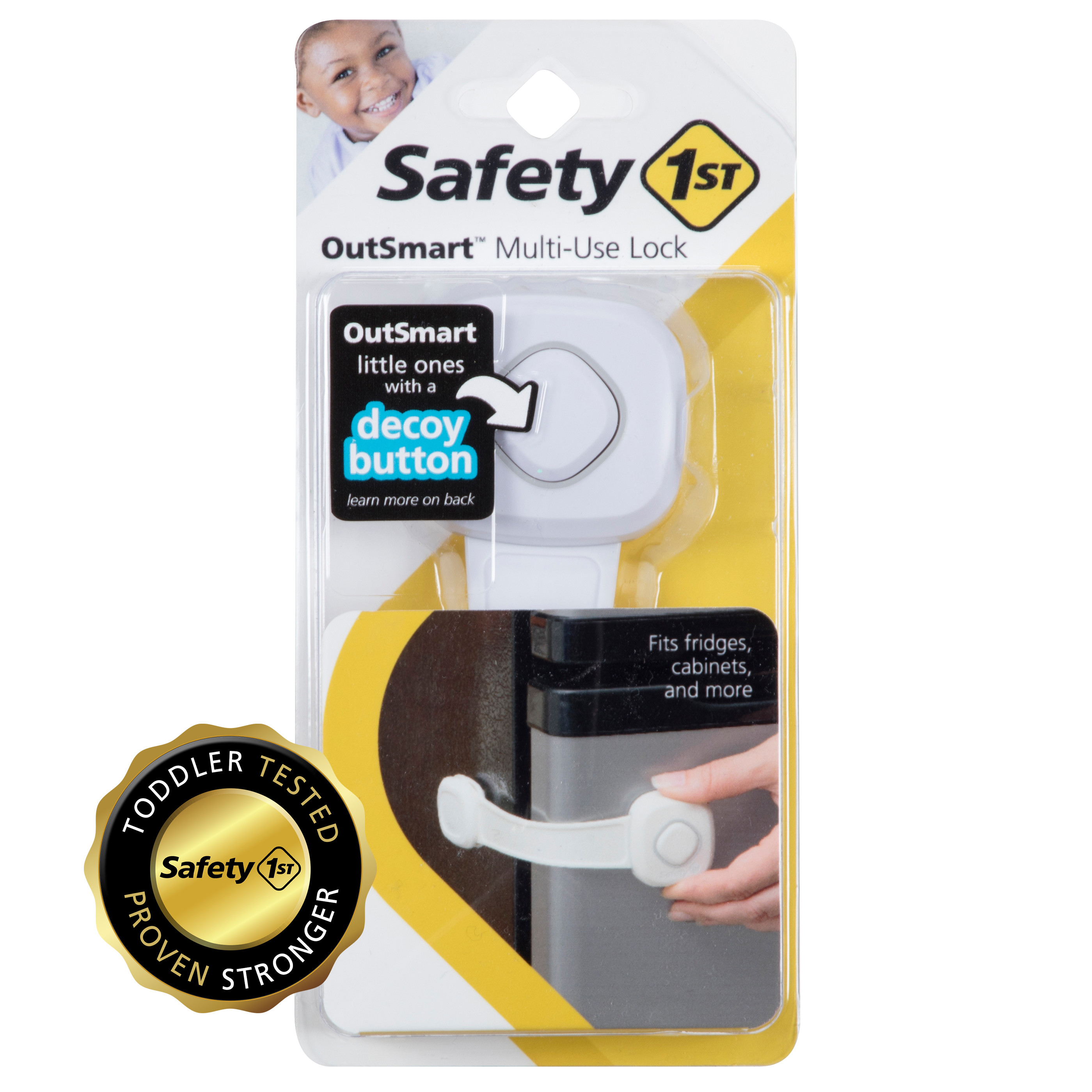 1 Pack of 2 Count Safety 1st Side by Side Cabinet Lock