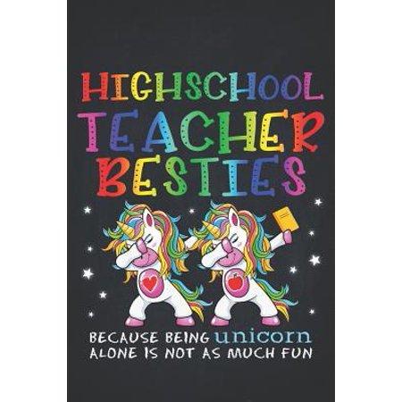Unicorn Teacher: High School Teacher Besties Teacher's Day Best Friend Composition Notebook Lightly Lined Pages Daily Journal Blank Dia