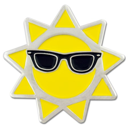 Cool Sun with Sunglasses Summer Enamel Lapel Pin - Cool Labels