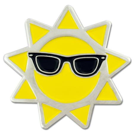 Cool Sun with Sunglasses Summer Enamel Lapel Pin