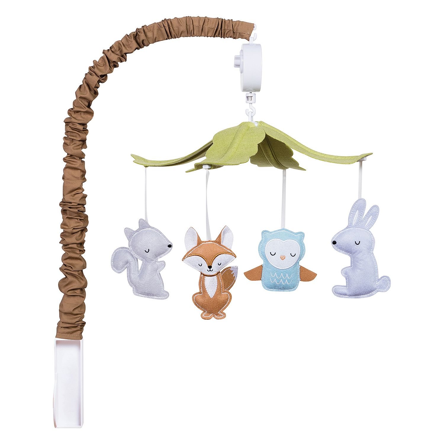 Trend Lab Musical Mobile, Woodland, Mobile easily attaches to most cribs, Plays Brahms Lullaby, Four stuffed animals,