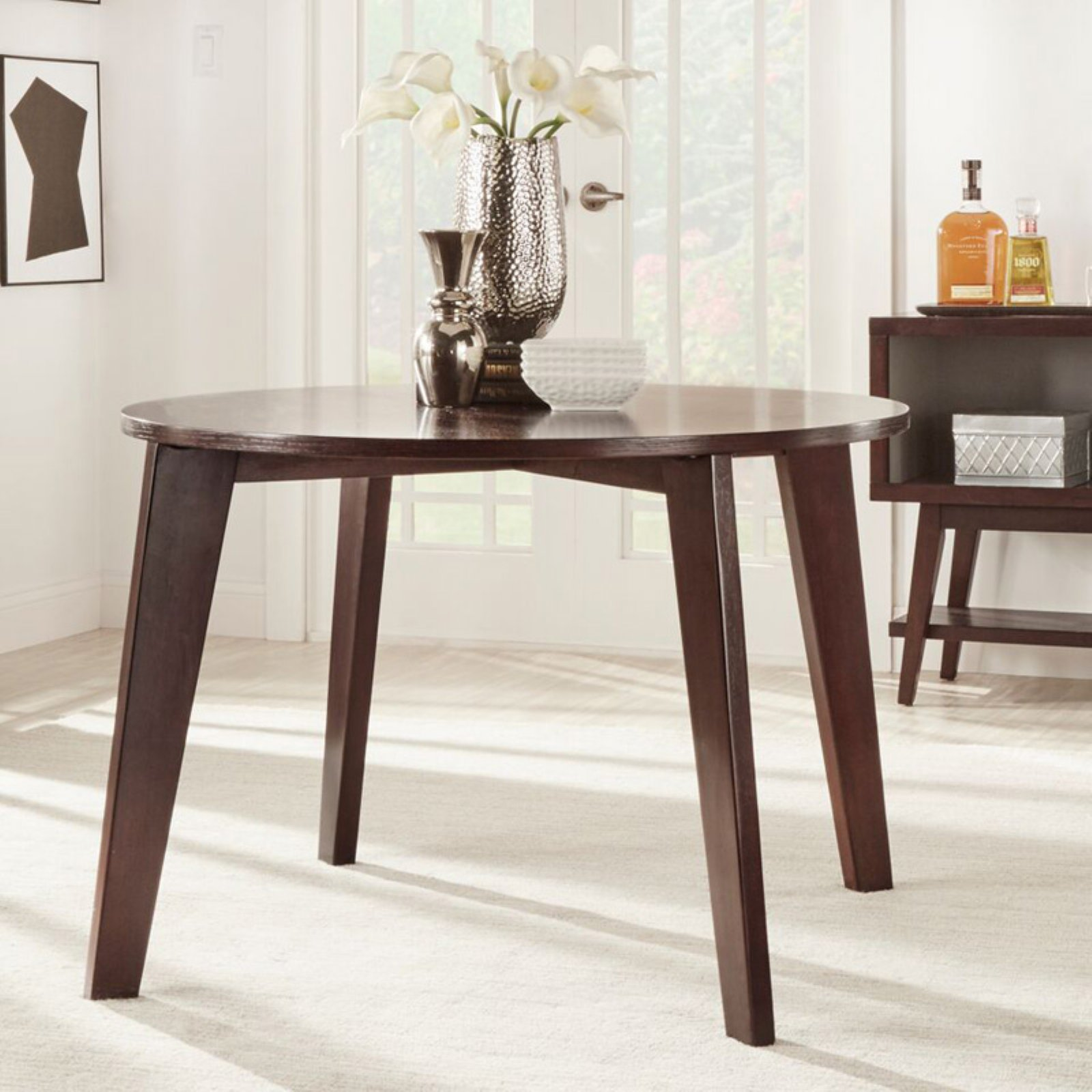 Chelsea Lane Baxter Round Angled-Leg Dining Table
