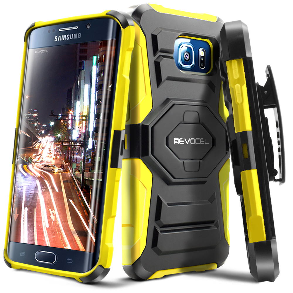 Galaxy S6 Edge Case, Evocel [Belt Clip Holster] [Kickstand] [Dual Layer] New Generation Phone Case for Samsung Galaxy S6 Edge SM-G925 (2015 Release), Black