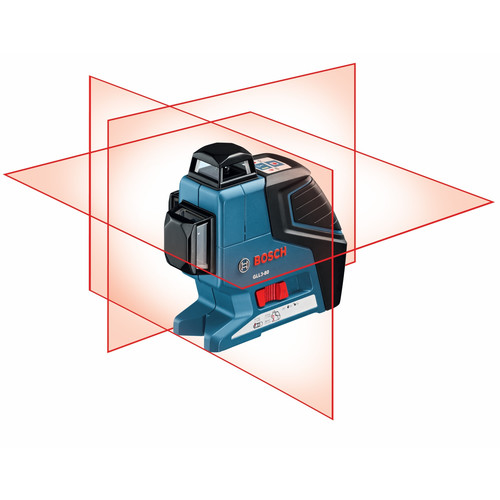 Bosch Three Plane 360 Degree Leveling and Alignment Laser with Line Laser Receiver GLL 3-80 LR2