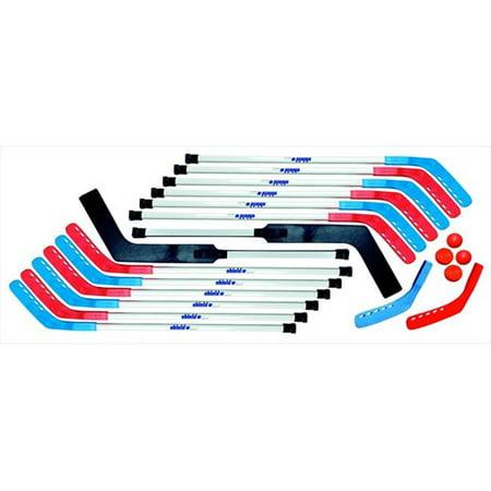 Floor Hockey Goalie Sticks (Shield 033016 42 In. Deluxe Outdoor Replacement Floor Hockey Stick, Black)