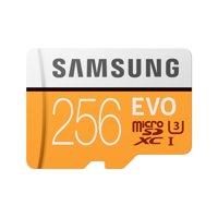 SAMSUNG EVO 256GB microSDXC UHS-I U3 100MB/s Full HD & 4K UHD Memory Card with Adapter - MB-MP256HA/AM