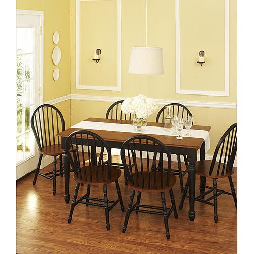 Better Homes and Gardens&reg Autumn Lane 7 Piece Dining Set, Black and Oak