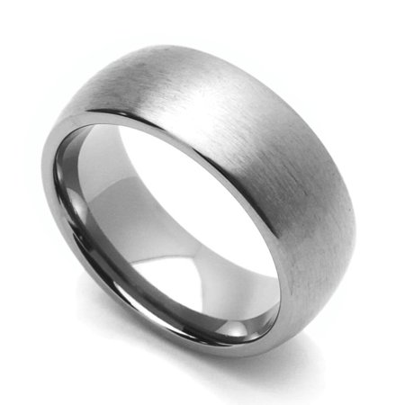 Men Women 8MM Comfort Fit Titanium Wedding Band Classic Domed Ring (Size 8 to 15) Classic Comfort Fit Wedding Band