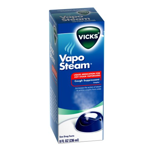 4 Pack - Vicks Vapo Steam Camphor for Use In Hot Steam Vaporizers 8oz Each
