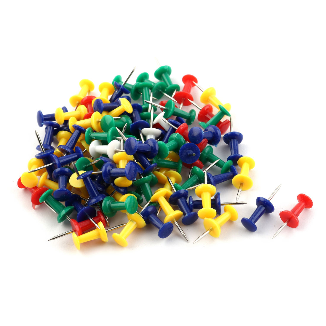 Office Universal 100 Pieces Colorful Push Pin Set