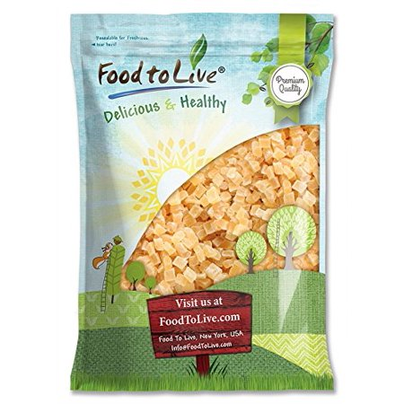 Diced Dried Pineapple, 10 Pounds - Raw, Vegan, Sweetened, Unsulfured, Bulk - by Food to Live (Blu Ray Pineapple Express)