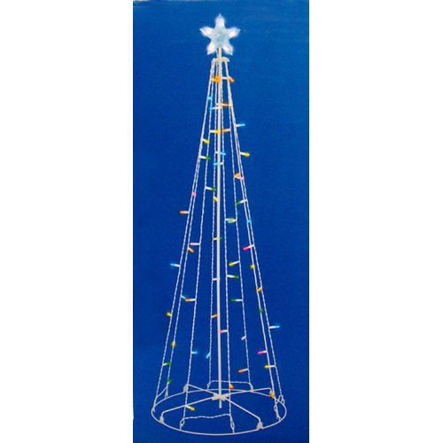 Sienna Lighting 5' LED Lighted Outdoor Show Cone Christma...